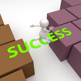 3D People with word Success Royalty Free Stock Photo