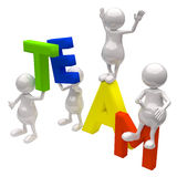 3d people with word team. On white background Stock Photography