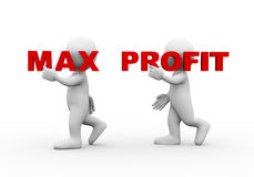 3d people word text max profit Royalty Free Stock Photo