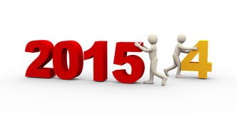 3d people working on new year 2015 Royalty Free Stock Image