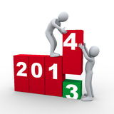 3d people and year 2014 Stock Image
