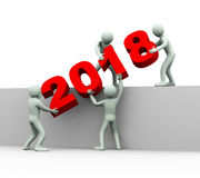 3d people year 2018 team work royalty free stock images