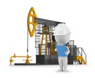 3d pequeña gente - petróleo del ingeniero stock de ilustración
