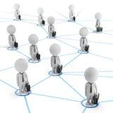 3d pequeña gente - red del negocio Imagen de archivo libre de regalías