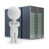 3d pequeña gente - servidores stock de ilustración