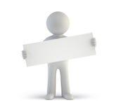 3d pequeña gente - tablero blanco en blanco libre illustration