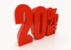 3D 20 per cento Immagine Stock