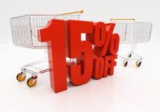 3D 15 per cento Fotografia Stock