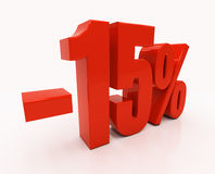 3D 15 per cento Immagini Stock Libere da Diritti