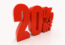 3D 20 percent Stock Image