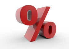 3D percent sign red Royalty Free Stock Photo