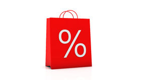 3d percentage symbol bag Royalty Free Stock Photography
