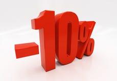 3D 10 percenten Royalty-vrije Stock Afbeelding