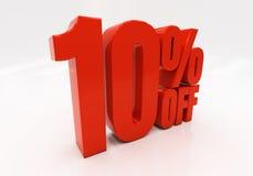 3D 10 percenten royalty-vrije stock foto's