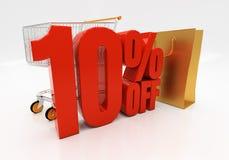 3D 10 percenten Stock Foto