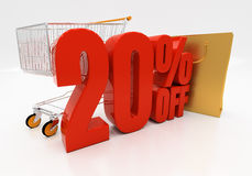 3D 20 percenten Stock Foto's