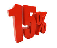 3D 15 percenten Stock Fotografie