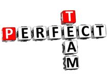 3D perfectionnent Team Crossword Photographie stock