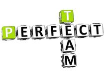 3D perfectionnent Team Crossword Image stock