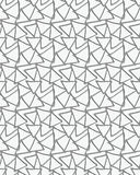 3D perforated triangles. Cut out of paper design Stock Image
