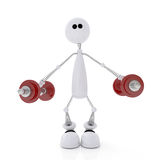 3d person athlete. Stock Photography