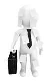 3d person businessman with memo papers. On a white background Royalty Free Stock Images