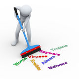 3d person cleaning infection Royalty Free Stock Images