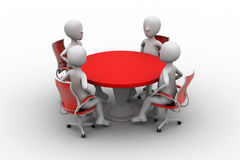 3d person at a conference table Royalty Free Stock Photo