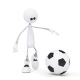 3d person football player. Royalty Free Stock Images