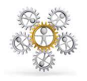3d person in gear wheel Royalty Free Stock Photo