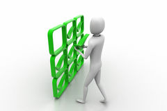 3d person with green positive symbol in hands Royalty Free Stock Photo