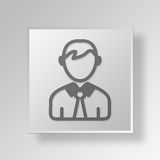 3D person icon Business Concept Royalty Free Stock Images