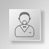 3D person icon Business Concept Stock Image