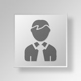 3D person icon Business Concept Royalty Free Stock Photography