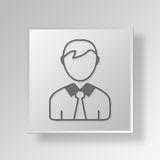 3D person icon Business Concept Stock Photography