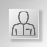 3D person icon Business Concept Royalty Free Stock Photos