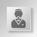 3D person icon Business Concept Royalty Free Stock Image
