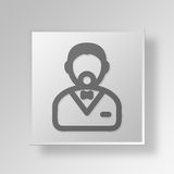 3D person icon Business Concept Stock Images