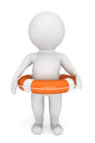 3d person with life-buoy Royalty Free Stock Image