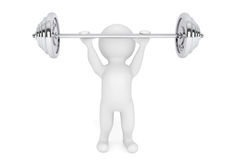 3d Person the lifting weight Royalty Free Stock Photos