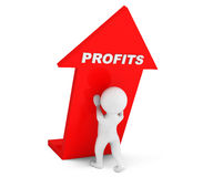 3d person with Profits Arrow Stock Images