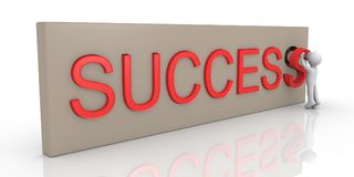 3d person finishing Success word Royalty Free Stock Photography