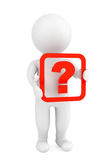 3d person with a question mark Stock Photography