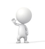 3D Person Salutes con la mano derecha aumentada. Fotos de archivo libres de regalías