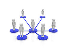 3d person - social network community people team Stock Photography