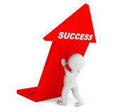 3d person with Success Arrow Stock Photography