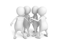 3d person team joing hands together Stock Photo