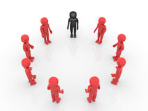 3d person teamwork Stock Photography