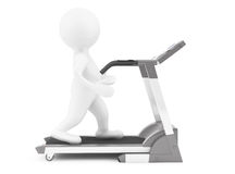 3d Person on Treadmill Machine Royalty Free Stock Image