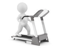 3d Person on Treadmill Machine Royalty Free Stock Photography